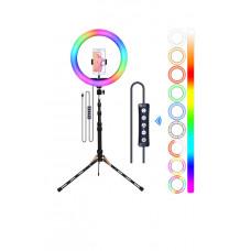 Штатив для телефона с цветной RGB лампой 26 см